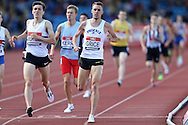 Charlie Grice winning the Men's 1500m race heat. The British Championships 2016, athletics event at the Alexander Stadium in Birmingham, Midlands  on Saturday 25th June 2016.<br /> pic by John Patrick Fletcher, Andrew Orchard sports photography.