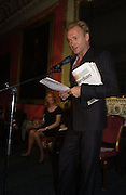 Sting, Literary Review Bad Sex in Fiction Award. In and Out Club, St. James, Sq. 3 December 2003. © Copyright Photograph by Dafydd Jones 66 Stockwell Park Rd. London SW9 0DA Tel 020 7733 0108 www.dafjones.com