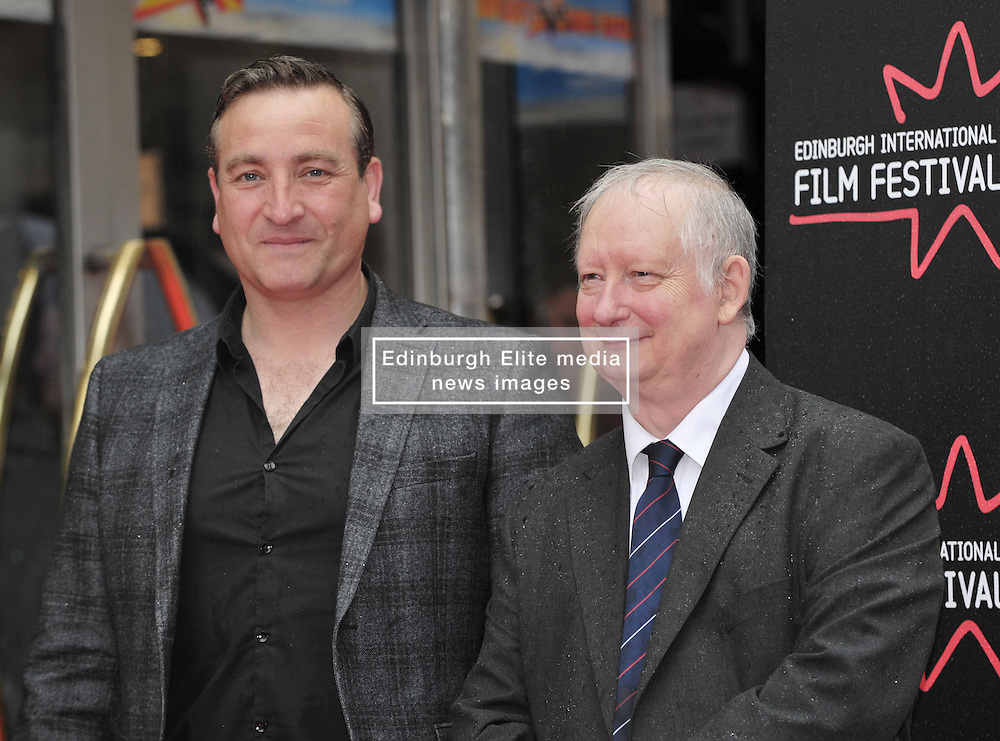 """Edinburgh International Film Festival, Sunday 26th June 2016<br /> <br /> Stars turn up on the closing night gala red carpet for the World Premiere of """"Whisky Galore!""""  at the Edinburgh International Film Festival 2016<br /> <br /> Michael Nardone who plays Brown and Brian Pettifer who plays Angus in the film<br /> <br /> (c) Alex Todd   Edinburgh Elite media"""