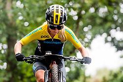 August 7, 2018 - Glasgow, UNITED KINGDOM - 180807 Linn Gustafzzon of Sweden competes in the Women's Mountain Bike Cycling during the European Championships on August 7, 2018 in Glasgow..Photo: Jon Olav Nesvold / BILDBYRÃ…N / kod JE / 160288 (Credit Image: © Jon Olav Nesvold/Bildbyran via ZUMA Press)