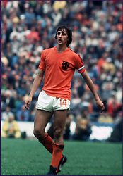 March 24, 2016 - France - JOHAN CRUYFF.Football - 1974 World Cup - Holland v West Germany - Stock.Johan Cruyff - Holland (Credit Image: © Panoramic via ZUMA Press)