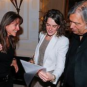 NLD/Amsterdam/20130327 - Inloop Schaatsgala 2012, Yvonne van Gennip, partner Jaap de Groot en Ireen Wust
