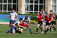 Canada U17's v USA U17's match at the Millfield Rugby Festival 2009 at Millfield School, Street in Somerset, England.<br /> <br /> NOTE There will still be many many more pictures from this match here soon. PLEASE LOOK HERE AGAIN .