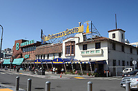 General view, gv, Logo, signage, Fisherman's Wharf, San Francisco, California, USA, 201304131260<br /> <br /> Copyright Image from Victor Patterson, 54 Dorchester Park, Belfast, UK, BT9 6RJ<br /> <br /> Tel: +44 28 9066 1296<br /> Mob: +44 7802 353836<br /> Voicemail +44 20 8816 7153<br /> Skype: victorpattersonbelfast<br /> Email: victorpatterson@me.com<br /> Email: victorpatterson@ireland.com (back-up)<br /> <br /> IMPORTANT: If you wish to use this image or any other of my images please go to www.victorpatterson.com and click on the Terms & Conditions. Then contact me by email or phone with the reference number(s) of the image(s) concerned.