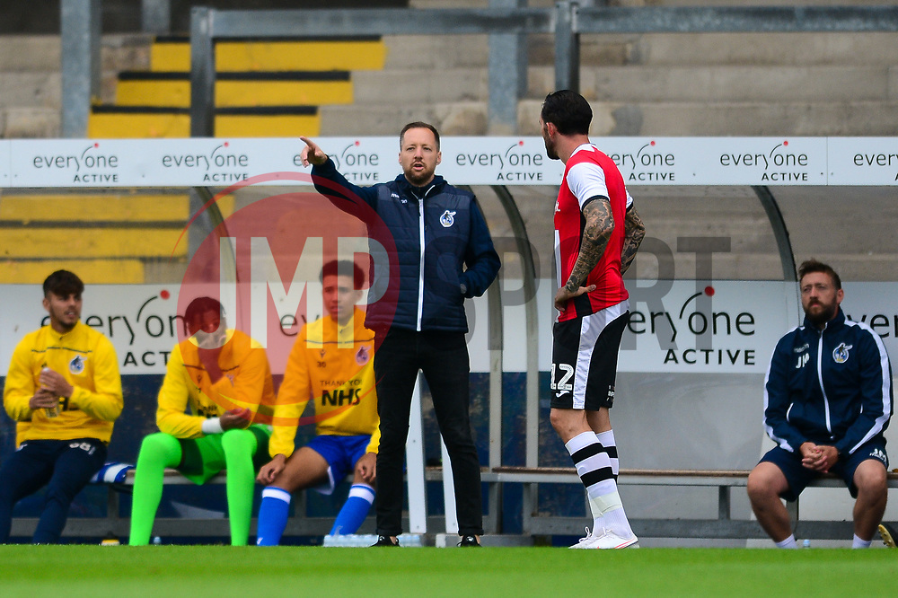 Bristol Rovers manager Ben Garner - Mandatory by-line: Dougie Allward/JMP - 15/08/2020 - FOOTBALL - Memorial Stadium - Bristol, England - Bristol Rovers v Exeter City - Pre-season friendly