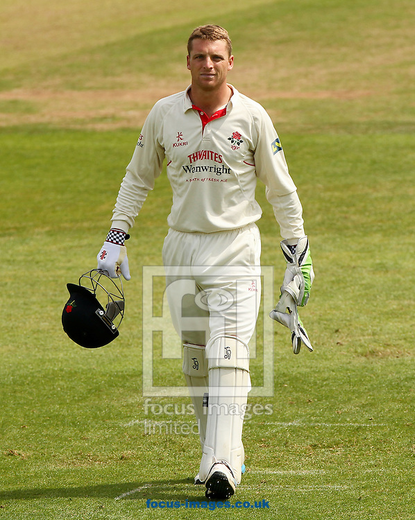 Jos Buttler of Lancashire County Cricket Club during the LV County Championship Div One match at the County Ground, Taunton, Taunton<br /> Picture by Tom Smith/Focus Images Ltd 07545141164<br /> 29/06/2014