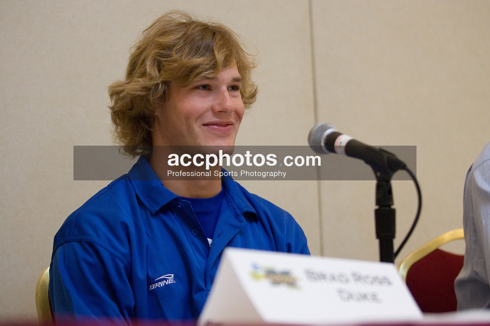 27 May 2007: Duke Blue Devils midfielder Brad Ross (10) in a press conference, a day before the NCAA lacrosse championship, at the Baltimore Marriott Waterfront in Baltimore, MD.