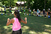 Shadow Drum and Bugle Corps practices at Flat Rock River YMCA Camp in St. Paul, Indiana on August 7, 2019. <br /> <br /> Beth Skogen Photography - www.bethskogen.com