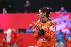 KOLDING, DENMARK - DECEMBER 5: Denisa Dedu during the EHF Euro 2020 Group D match between Poland and Romania in Sydbank Arena, Kolding, Denmark on December 5, 2020. Photo Credit: Allan Jensen/EVENTMEDIA.