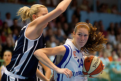 Tina Trebec of Slovenia during women basketball match between National teams of Slovenia and Slovakia in 5th Round of European Championship France 2013 Qualifications, on June 26, 2012 in Arena Jezica, Ljubljana, Slovenia. (Photo by Vid Ponikvar / Sportida.com)