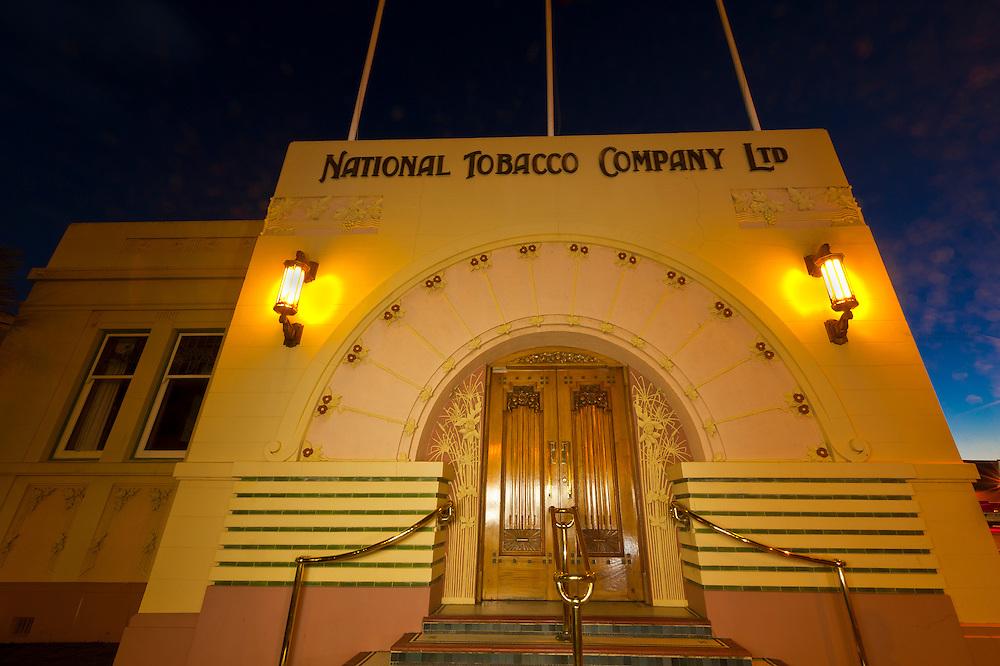 National Tobacco Company Building (art deco architecture), Napier, Hawkes Bay, North Island, New Zealand