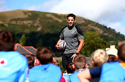 Bryce Heem of Worcester Warriors hosts a Q&A session as Worcester Warriors host a summer holiday rugby camp at Malvern College - Mandatory by-line: Robbie Stephenson/JMP - 16/08/2017 - RUGBY - Malvern College - Worcester, England - Worcester Warriors - Malvern Rugby Camp