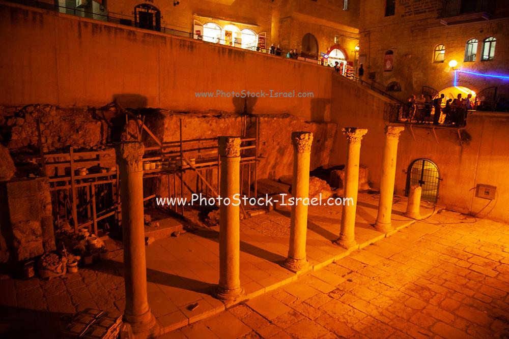 Jerusalem, Old City The cardo illuminated at night
