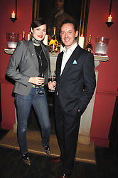 JASMINE GUINNESS and PATRICK SHELLEY of Ruinart at a dinner hosted by Ruinart in honour of artist Natasha Law held at Soho House, 21 Old Compton Street, London on 16th January 2008.<br /> <br />  (EMBARGOED FOR PUBLICATION IN UK MAGAZINES UNTIL 1 MONTH AFTER CREATE DATE AND TIME) www.donfeatures.com  +44 (0) 7092 235465