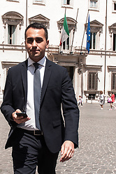 May 2, 2019 - Rome, italy, Italy - Luigi di Maio Minister of Economic Development and Minister of Labour and Social Policy, as well as Vice President of the Council of Ministers in the Contet Government, near Palazzo Chigi on May 2, 2019., 2019 in Rome, (Credit Image: © Andrea Ronchini/NurPhoto via ZUMA Press)