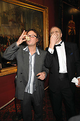 Left to right,  HUGH FEARNLEY-WHITTINGSTALL and PATRICK HOLDEN at the Feast of Albion a sumptious locally-sourced banquet in aid of The Soil Association held at The Guildhall, City of London on 12th March 2008.<br />