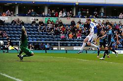 Bristol Rovers' David Clarkson scores the winning goal - Photo mandatory by-line: Dougie Allward/JMP - Mobile: 07966 386802 26/04/2014 - SPORT - FOOTBALL - High Wycombe - Adams Park - Wycombe Wanderers v Bristol Rovers - Sky Bet League Two