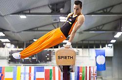 Michel Bletterman of Netherlands competes in the Pommel Horse during Final day 1 of Artistic Gymnastics World Challenge Cup Ljubljana, on April 19, 2014 in Hala Tivoli, Ljubljana, Slovenia. Photo by Vid Ponikvar / Sportida