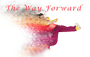 Famous humourous quotes series: The way forward. Exploding hiphop dancer