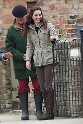 May 3, 2017 - Arlingham, United Kingdom - The Duchess of Cambridge during a  visit to a farm run by the charity Farms for City Children in Arlingham, near Gloucester,  United Kingdom. The charity gives  young people from inner cities the chance to spend a week on a real working farm.  (Credit Image: © Stephen Lock/i-Images via ZUMA Press)