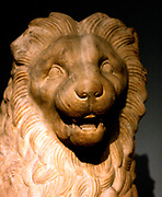 Detail from marble lion from Mausoleum. Circa 350 BC