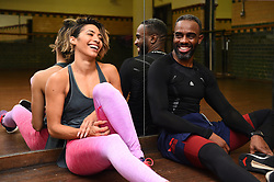 Embargoed to 0001 Thursday November 08 Strictly Come Dancing contestants Charles Venn and Karen Clifton after practicing their latest dance routine, the Charleston, at a dance studio in London.