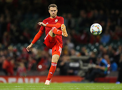 October 11, 2018 - Cardiff City, Walles, United Kingdom - Cardiff, Wales October 11, .Aaron Ramsey of Wales warms up before the Exhibition Match between Wales and Spain at Principality stadium, Cardiff City, on 11 Oct  2018. (Credit Image: © Action Foto Sport/NurPhoto via ZUMA Press)