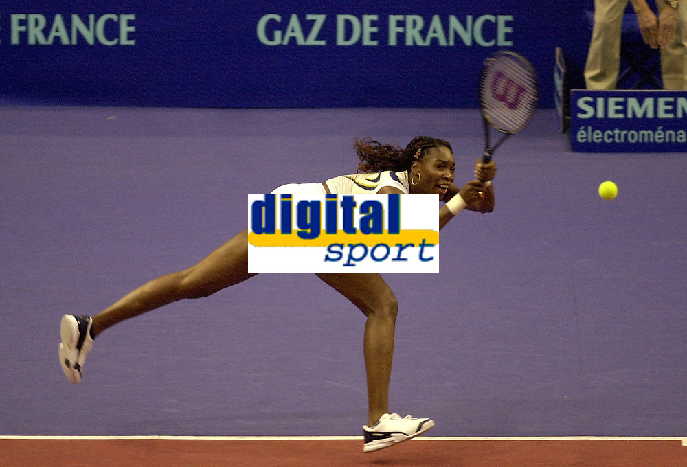 Tennis. Open Gaz de France 2002. Venus Williams, USA.<br />Foto: Corinne Dubreuil, Digitalsport