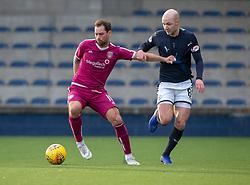 Arbroath's Gavin Swankie and Raith Rovers Grant Gillespie. half time ; Raith Rovers 0 v 1 Arbroath. Scottish Football League Division One game played 16/2/2109 at Stark's Park.