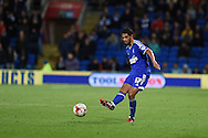 Kevin Bru of Ipswich Town in action. Skybet football league championship match, Cardiff city v Ipswich Town at the Cardiff city stadium in Cardiff, South Wales on Tuesday 21st October 2014<br /> pic by Andrew Orchard, Andrew Orchard sports photography.