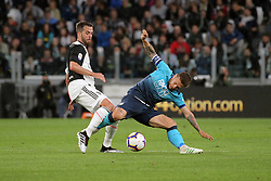 May 19, 2019 - Turin, Turin, Italy - Alejandro Gomez #10 of Atalanta BC competes for the ball with Miralem Pjanic #5 of Juventus FC during the serie A match between Juventus FC and Atalanta BC at Allianz Stadium on May 19, 2019 in Turin, Italy. (Credit Image: © Giuseppe Cottini/NurPhoto via ZUMA Press)