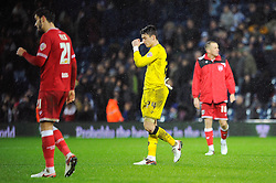 Max O'Leary of Bristol City cuts a dejected figure after James Morrison of West Bromwich Albion scores a late goal to equalise - Mandatory byline: Dougie Allward/JMP - 09/01/2016 - FOOTBALL - The Hawthorns - Birmingham, England - West Brom v Bristol City - FA Cup Third Round