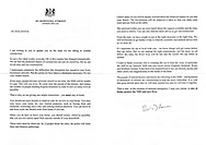 A letter sent to every household in England asking everyone to stay at home.
