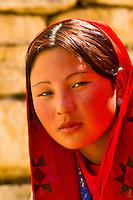 Spectators watching dance performances, Paro Tsechu (Festival), Paro, Bhutan