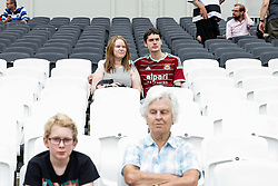 A West Ham fan attends the match in his football shirt to try out what will be his clubs new home stadium from 2016 - Mandatory byline: Rogan Thomson/JMP - 07966 386802 - 29/08/2015 - RUGBY UNION - The Stadium at Queen Elizabeth Olympic Park - London, England - Barbarians v Samoa - International Friendly.
