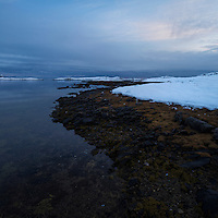 Winter shoreline, Vestvågøy, Lofoten Islands, Norway