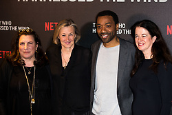 February 19, 2019 - London, United Kingdom of Great Britain and Northern Ireland - (L-R) Alexa Fogel, Gail Egan, Chiwetel Ejiofor and Andrea Calderwood arriving at the UK premiere of 'The Boy Who Harnessed The Wind' at Ham Yard Hotel on February 19, 2019 in London, England  (Credit Image: © Famous/Ace Pictures via ZUMA Press)