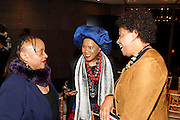 May 10, 2016- New York, NY: United States: Author Dr. Deb Willis, Actor/Philanthropist Sherry Bronfman and Photographic Artist Carrie Mae Weems attend the Aperture Magazine Launch for the Vision & Justice Issue held at the Ford Foundation on May 10, 2016 in New York City.  Aperture, a not-for-profit foundation, connects the photo community and its audiences with the most inspiring work, the sharpest ideas, and with each other—in print, in person, and online. (Terrence Jennings/terrencejennngs.com)