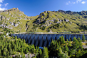 Dam and Lake Fedaia, Trentino, Italy