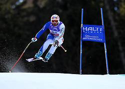 10.02.2011, Kandahar, Garmisch Partenkirchen, GER, FIS Alpin Ski WM 2011, GAP, Herren Abfahrtstraining, im Bild Paolo Pangrazzi (ITA) takes to the air competing in the first men's downhill training run on the Kandahar race piste at the 2011 Alpine skiing World Championships, EXPA Pictures © 2011, PhotoCredit: EXPA/ M. Gunn