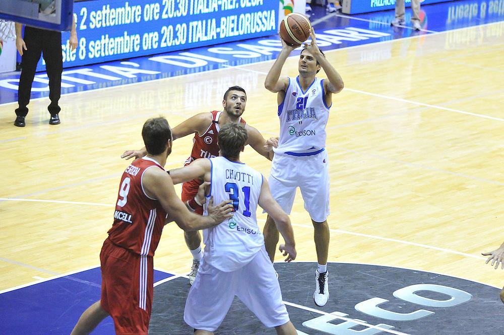 Cagliari, 21/08/2012<br /> Basket, Eurobasket 2013 Qualifying Round<br /> Italia - Turchia<br /> Nella foto: andrea cinciarini<br /> Foto Ciamillo