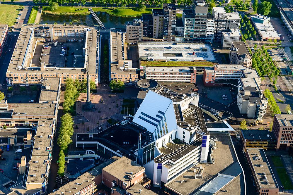 Nederland, Flevoland, Lelystad, 07-05-2018; Lelystad Centrum met syadhuis.<br /> Lelystad city centre with  city hall.<br />  <br /> luchtfoto (toeslag op standard tarieven);<br /> aerial photo (additional fee required);<br /> copyright foto/photo Siebe Swart
