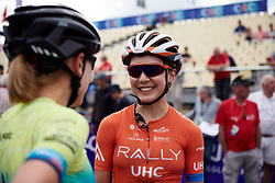 Sara Poidevin (CAN) before GP de Plouay - Lorient Agglomération Trophée WNT, a 128 km road race in Plouay, France on August 31, 2019. Photo by Sean Robinson/velofocus.com