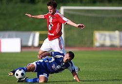 Sinisa Jankovic  (10) of Nafta vs Amer Jukan (18) of Interblock at 7th Round of PrvaLiga Telekom Slovenije between NK Interblock vs NK Nafta Lendava, on September , 2008, in ZAK stadium in Ljubljana, Slovenia. Interblock won the match 3:1. (Photo by Vid Ponikvar / Sportal Images)
