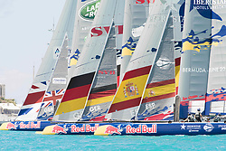 June 21, 2017 - Bermudes, USA - The Great Sound, Bermuda, 20th June 2017, Red Bull Youth America's Cup Finals. Race two, Land Rover BAR Academy,  Next Generation - Team Germany and Spanish Impulse by Iberostar Team. (Credit Image: © Panoramic via ZUMA Press)