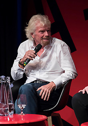 EDITORIAL USE ONLY<br /> Sir Richard Branson speaks at the Virgin Disruptors conference, which discusses innovation and change across the business world, at The Mermaid Theatre, in London.