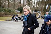 Uitvaart Mies Bouwman in een crematorium in Leusden.<br /> <br /> Op de foto: Matthijs van Nieuwkerk