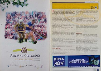 All Ireland Senior Hurling Championship - Final, .12.09.1999, 09.12.1999, 12th September 1999,.12091999AISHCF,.Senior Kilkenny v Cork,.Minor Galway v Tipperary, .Cork 0-13, Kilkenny 0-12,.Radio na Gaeltachta, .Nivea for Men,