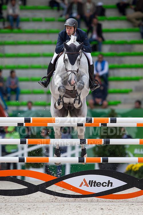 Martin Rodriguez Vanni, (URU), Zilverstar VDL - Team & Individual Competition Jumping Speed - Alltech FEI World Equestrian Games™ 2014 - Normandy, France.<br /> © Hippo Foto Team - Leanjo De Koster<br /> 02-09-14