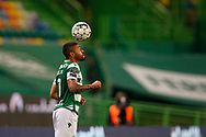 Tabata in control during the Liga NOS match between Sporting Lisbon and Belenenses SAD at Estadio Jose Alvalade, Lisbon, Portugal on 21 April 2021.
